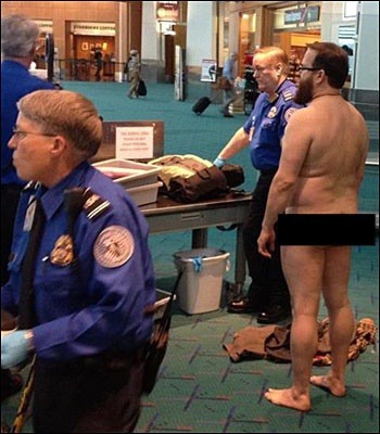 Airport security travel