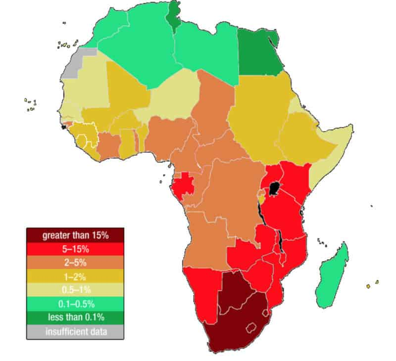 Africa-AIDS-population-by-country