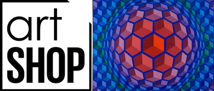 Victor Vasarely, art exhibition in Lausanne. First time ever at Artshop gallery.