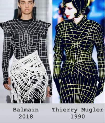 When Balmain copies Mugler…. Real Scandal !