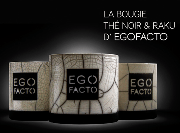 Egofacto, Black tea & Raku Candle limited edition