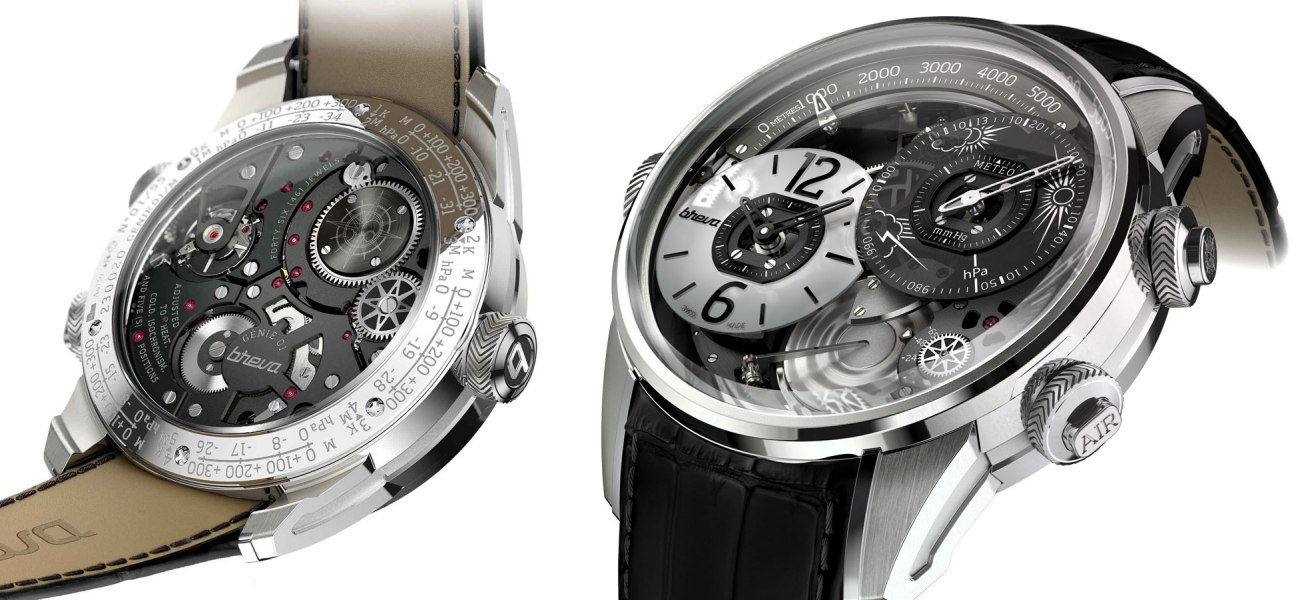Breva Genie 01 is the first mechanical watch with altimeter and barometer