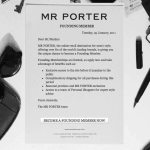 MRPORTER.COM, finally Men have their fashion online temple!