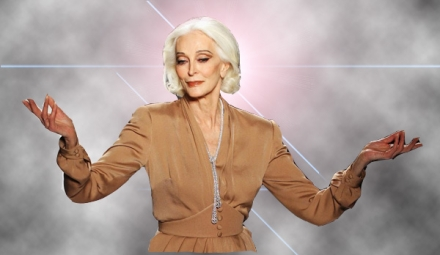 Carmen Dell'Orefice, oldest top model in the world.