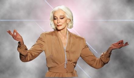 Carmen Dell'Orefice, oldest top model in the world.