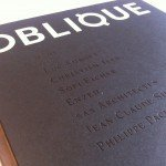 OBLIQUE N.1, Book-Magazine