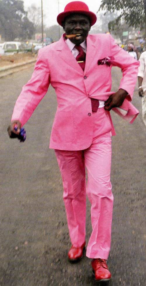 The Sapeurs, elegant dandies from Africa. Color is life.