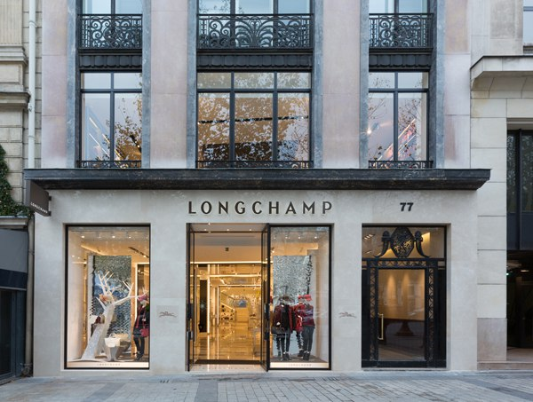 Longchamp opens an amazing flagship store in Champs-Elysées Paris.