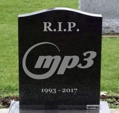 MP3 is dead for good. A chapter of electronic freedom ends.