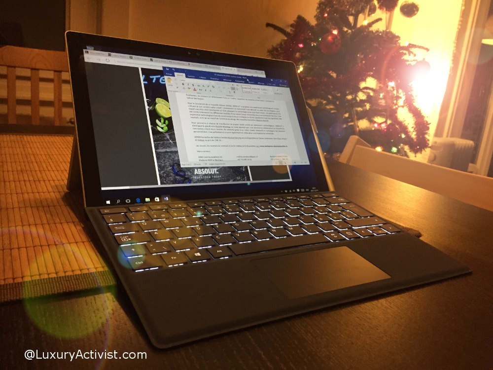 Microsoft Surface Pro 4, the test by LuxuryActivist.com