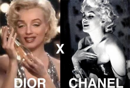 Marilyn Monroe – Chanel 1 x Dior 0