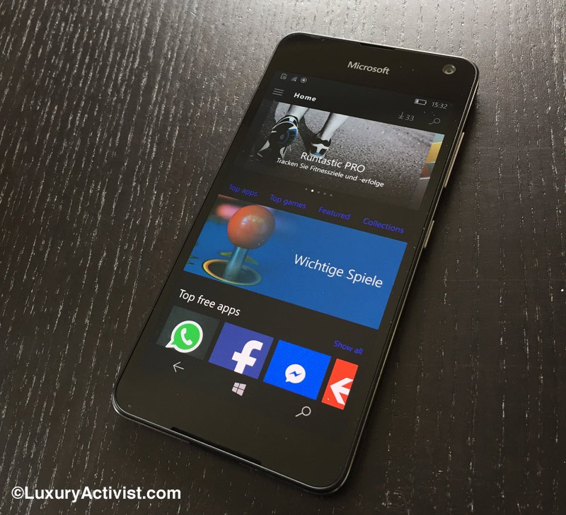 Microsoft Lumia 650 in the Test