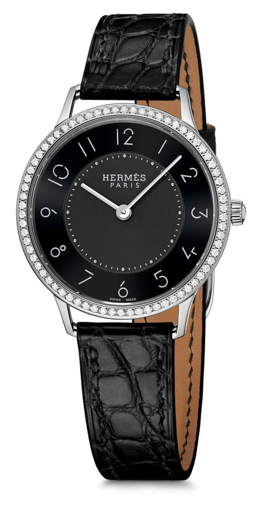 SlimdHermes-32mm-Black-dial