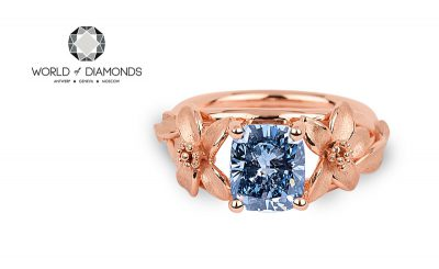 The Jane Seymour Diamond Blue ring – Exceptional!