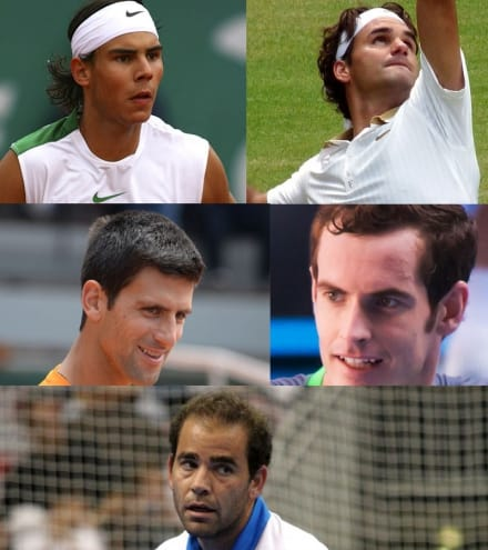 Top 5 Tennis Players with the biggest earnings in their career.