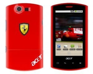 Ferrari phone by Acer