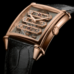 Girard Perregaux Vintage 1945 Tourbillon with three gold Bridges.