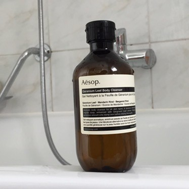 Aesop Geranium Leaf Body Cleanser: must have.