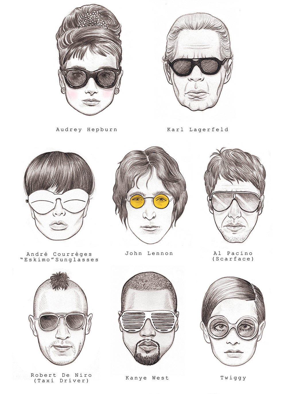 The 30 Most Iconic Sun-glasses of all time [Infographics] | Luxury Activist