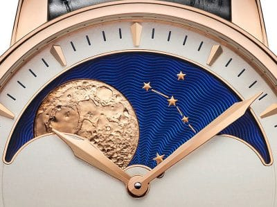 Moon phases in watch-making: measuring life with time.