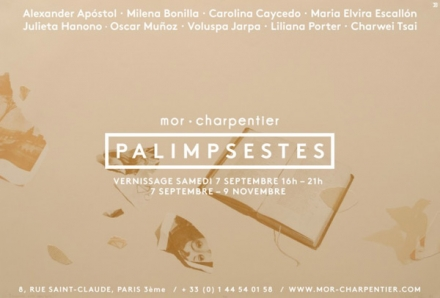 Palimpsestes, when politics and arts meet. At mor.charpentier in Paris.