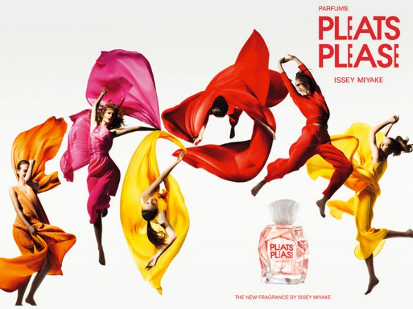 Pleats Please by Issey Miyake, happy one.