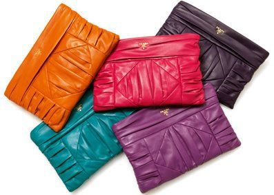 prada nappa clutch bag color blocking prada candy
