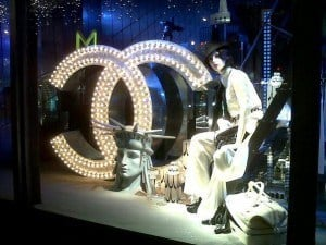 Le Printemps christmas windows chanel