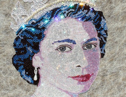 Claire Milner, Swarovski crystals for a diamond jubilee.