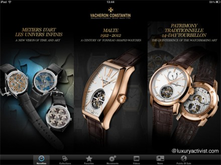 Vacheron Constantin new iPad App Edition