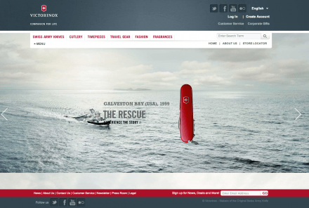 Victorinox launches new website about true stories.